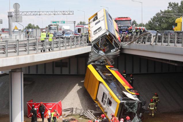 Autobus wypadek Grota