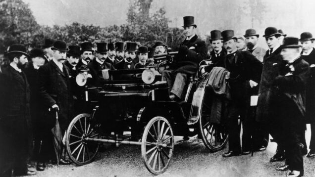 19th-century petrolheads gather in Crystal Palace park to show off their rides